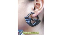 Pierced Wooden Earring Carved