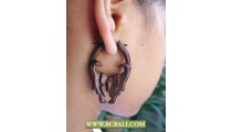 Piercing Sono Wooden Earring Carving