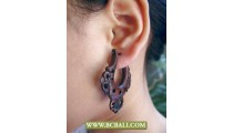 Woods Sono Earring Fashion Carving