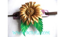 Bali Leather Floral Hair Accessories