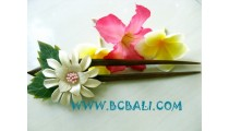 Hair Stick Wood Flower