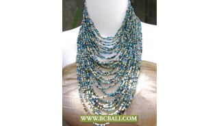 Bali Multi Strand Beaded Chokers Necklaces