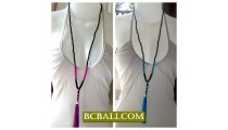 Tassel Necklaces Pendants Beads Seeds