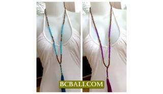 Bali Tassel Necklace Multi Seeds
