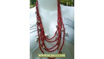 Charm Beaded Fashion Necklace Multi Strand