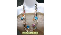 Glass Beaded Multi Layers Necklace Fashion