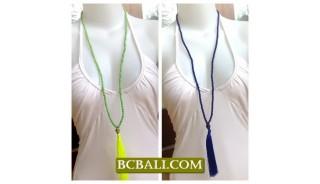 Women Fashion Tassel Necklace Long