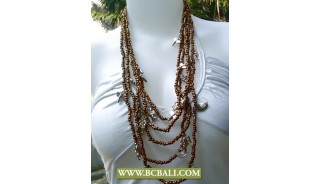 Squins Necklaces Beaded with Chains Fashion