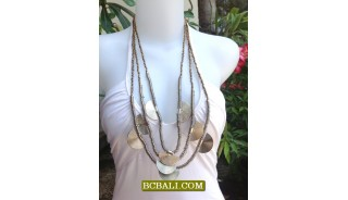 Bali Beads Necklaces Charming Multi Strand Long