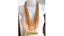 Bali Multi Strand Seeds Beading Necklace for Ladies
