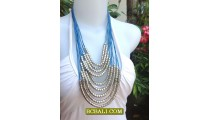 Bali Rope Necklaces Fashion Multi Seeds Beads