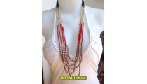 Beading Five Strand Mix Coloring Necklace