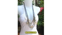 Beading Necklaces Charm Multi Strand Triple Long