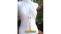Beads Tassel Necklace Pendant Long Seeds