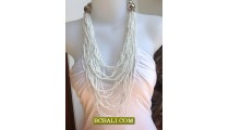 Fashion Beads Multy Strand Long Necklace