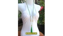 Fashion Tassel Necklace Pendant Long Seeds Bali
