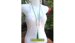 Fashion Tassel Necklace Pendant Long Seeds Bali