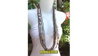 Long Strand Beaded Necklace Charm Design Bali Stylist