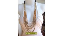 Long Strand Tree Coloring Necklace Casual Design