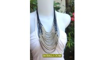 Multi Rope Necklaces Fashion Strings Beaded