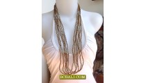 Necklaces Golden Beads Fashion Multi Seeds