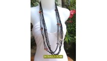 Necklaces Long Seeds Bead Fashion for Ladies