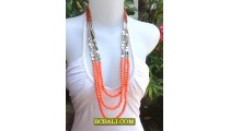Necklaces Long Strand Beads Triple Seeds Fashion