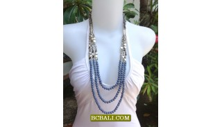 Necklaces Triangle Beads Triple Seeds Long Strand