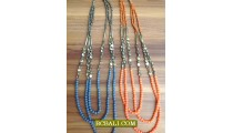 Necklaces-Triangle Stone Beads Triple Seed Fashion
