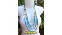 Necklaces Triple Long Beads Triple Seed Jewelry