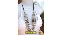 Necklaces BeadsTriple Strand Fashion Ladies