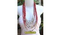 New Beads Necklaces Multi Strand Fashion Women