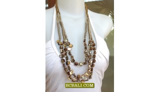 Triangle Beaded Shells Necklaces Fashion