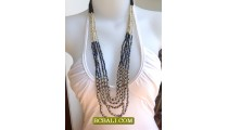 Two Combination Color Charming Long Strand Necklace