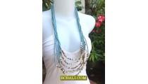 Woman Fashion Multi Strand Necklace Design 2013