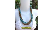 Wrap-Seeds Four Beaded Necklace Two Color
