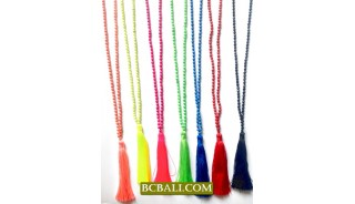 Beads Stones Seeds Tassel Necklace Pendants