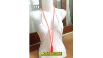Glass Beads Tassel Necklaces Fashion