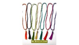 Beading Wooden Tassel Necklaces Pendants