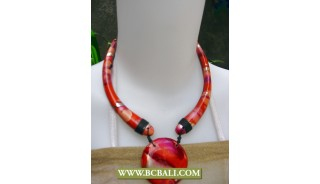 Bali Chockers Wooden Hand Painted Necklace