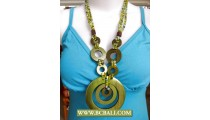 Bali Hand Painted Wood Necklace Fashion