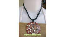 Bali Hand Painting Wooden Necklace Fashion