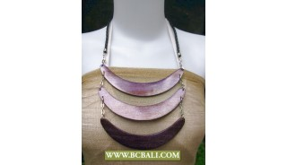 Bali Natural Wooden Triple Necklace Fashion