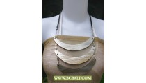 Bali Wooden Necklace Triangle Handmade