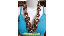 Balinese Wrap Beads Necklace Ring Wooden