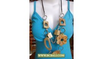 Good Painting Wooden Necklace Fashion Handmade