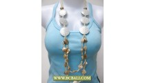Layered Wooden Necklace mix Shell Fashion