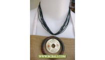 Necklaces with Pendant Chokers Wood Painting