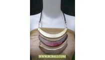 Triangle Woman Necklace Wood Coloring