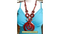 Woman Hand Painting Necklace Wooden